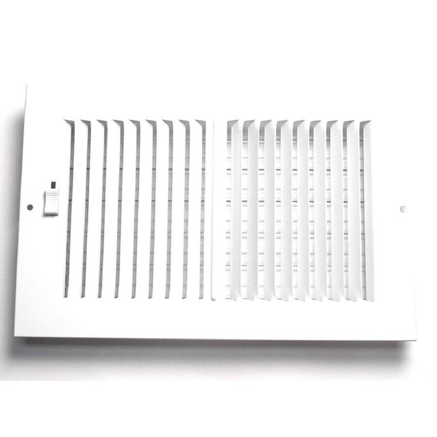 Accord Ventilation 202 Series Painted Steel Sidewall/Ceiling Register (Rough Opening: 6-in x 6-in; Actual: 7.75-in x 7.75-in)