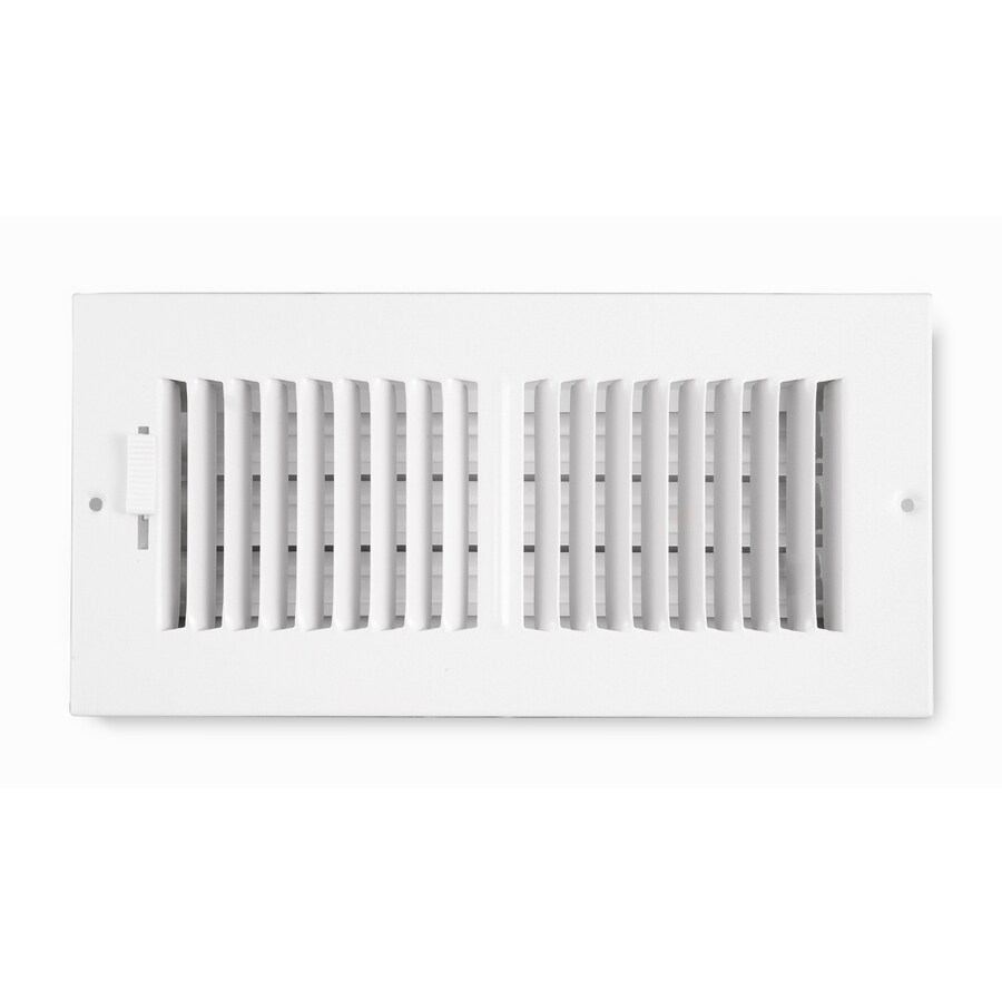 Accord Ventilation 202 Series Painted Steel Sidewall/Ceiling Register (Rough Opening: 5-in x 10-in; Actual: 6.75-in x 11.75-in)