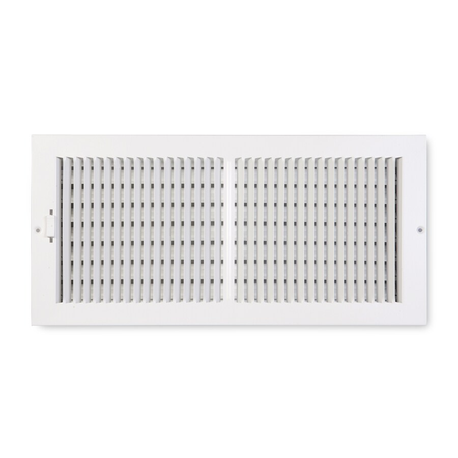 Accord Ventilation 202 Series White Steel Sidewall/Ceiling Register (Rough Opening: 6-in x 18-in; Actual: 19.75-in x 7.75-in)