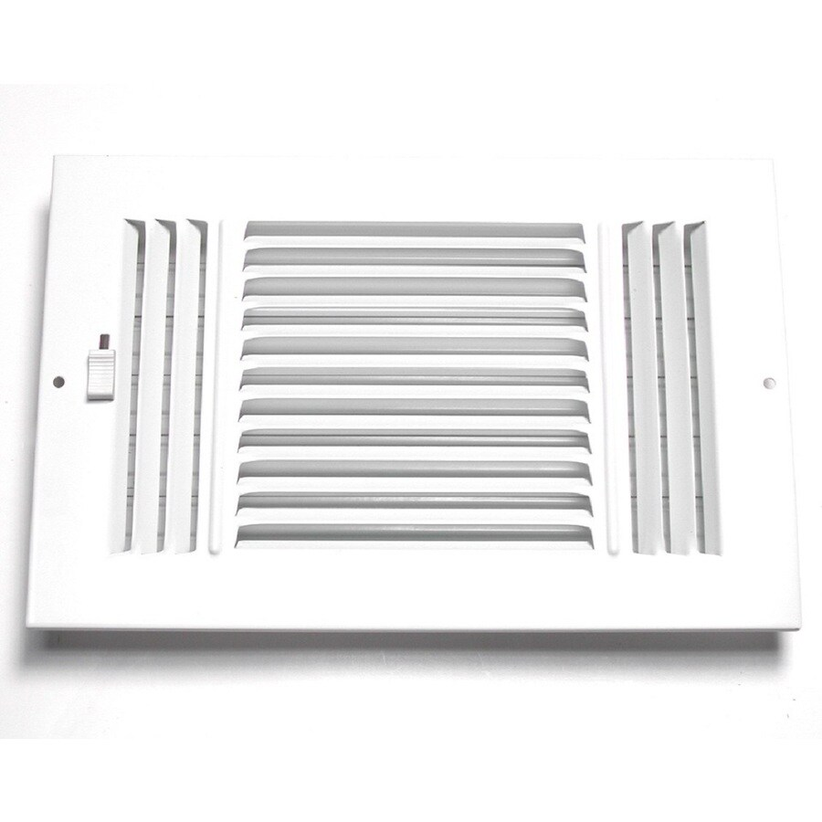 Accord Ventilation 203 Series Painted Steel Sidewall/Ceiling Register (Rough Opening: 8-in x 8-in; Actual: 9.75-in x 9.75-in)
