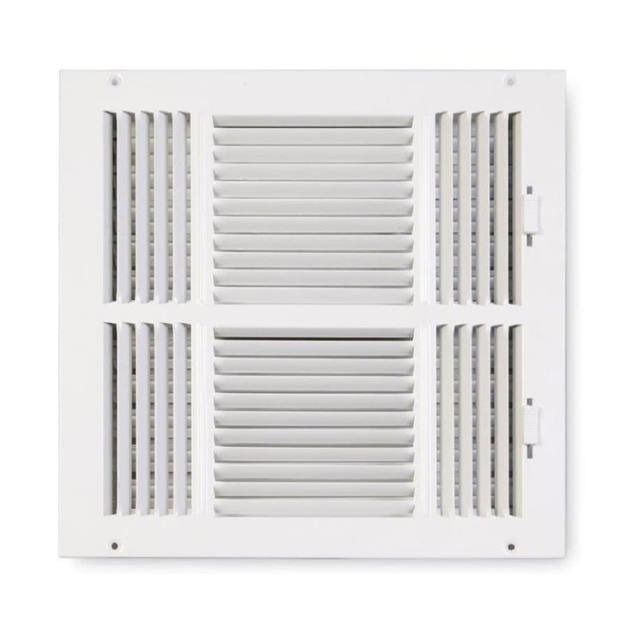 Accord Ventilation 203 Series Painted Steel Sidewall/Ceiling Register (Rough Opening: 12-in x 12-in; Actual: 13.75-in x 13.75-in)