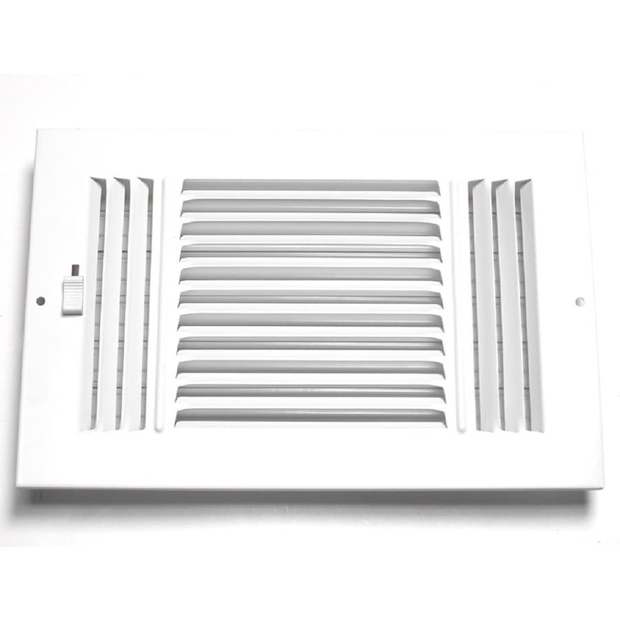 Accord Ventilation 203 Series White Steel Sidewall/Ceiling Register (Rough Opening: 8-in x 14-in; Actual: 15.75-in x 9.75-in)