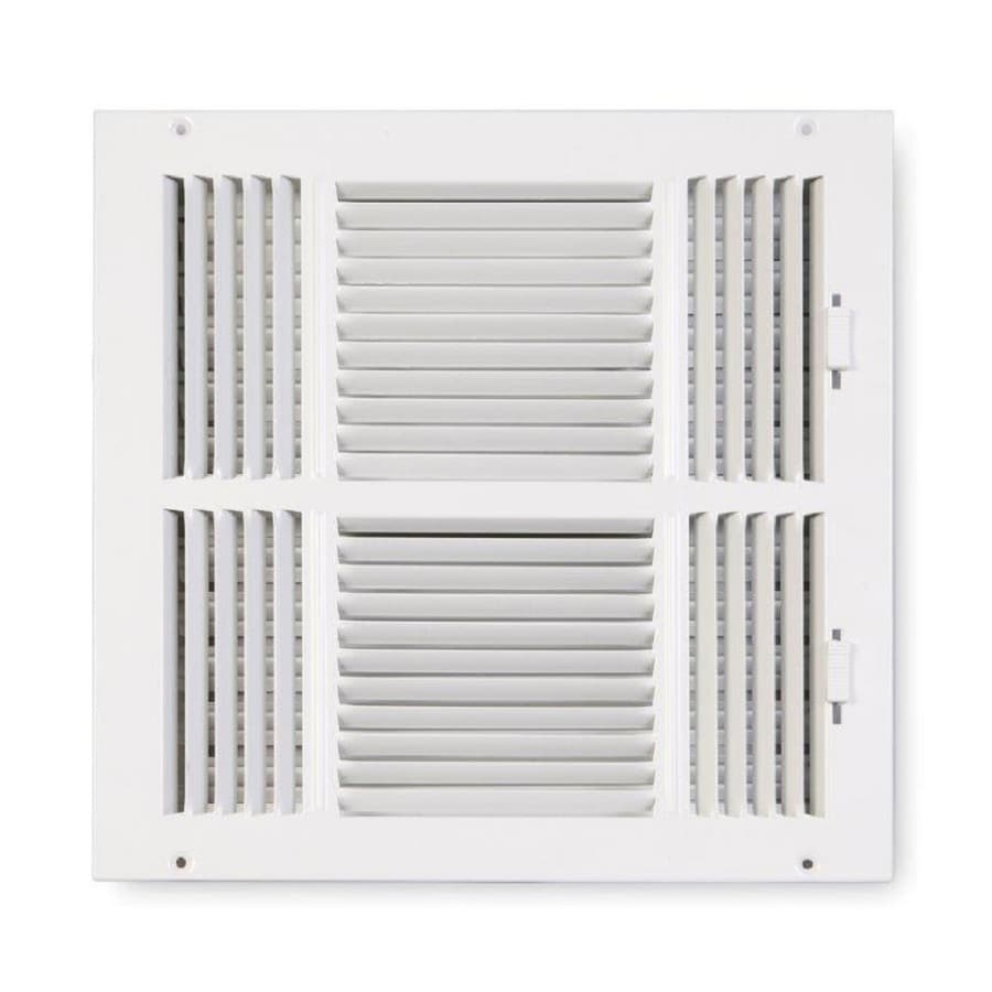 Accord Ventilation 203 Series White Steel Sidewall/Ceiling Register (Rough Opening: 14-in x 14-in; Actual: 15.75-in x 15.75-in)