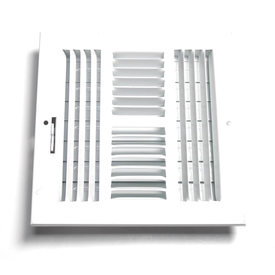 Accord Ventilation 204 Series Painted Steel Sidewall/Ceiling Register (Rough Opening: 14.0-in x 14.0-in; Actual: 15.75-in x 15.75-in)