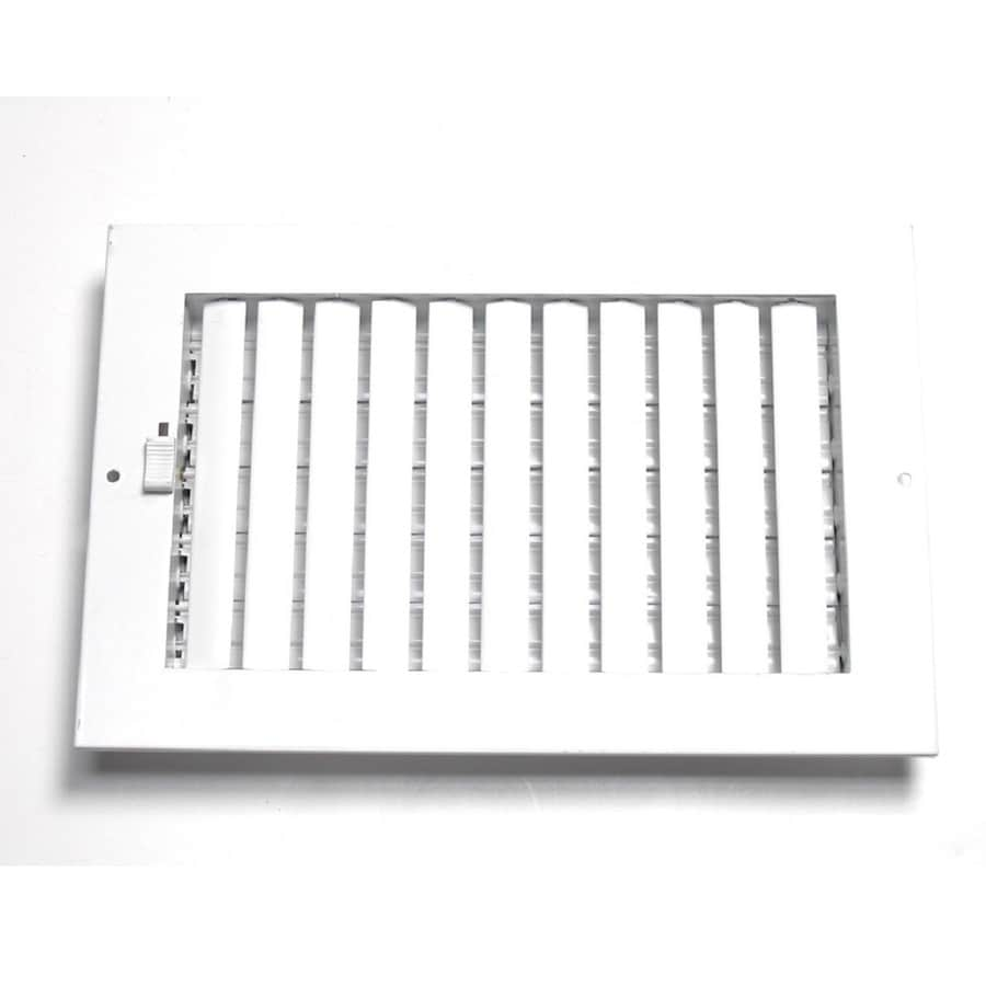 Accord Ventilation 260 Series White Steel Sidewall/Ceiling Register (Rough Opening: 12-in x 12-in; Actual: 13.75-in x 13.75-in)