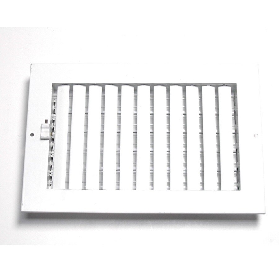 Accord Ventilation 260 Series White Steel Sidewall/Ceiling Register (Rough Opening: 6-in x 14-in; Actual: 15.75-in x 7.75-in)