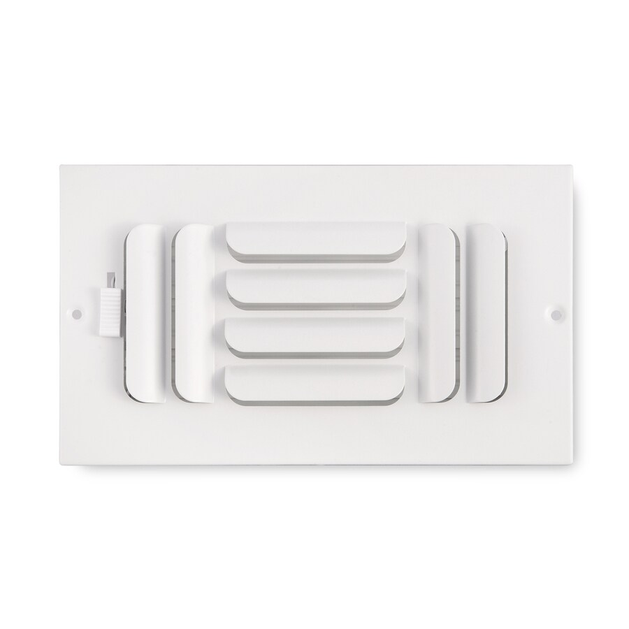 Accord Ventilation 263 Series White Steel Sidewall/Ceiling Register (Rough Opening: 4-in x 8-in; Actual: 9.75-in x 5.75-in)