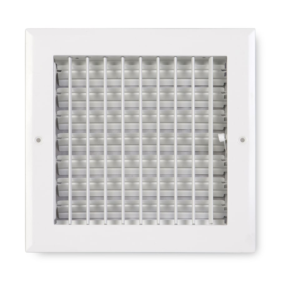 Accord Ventilation 270 Series Painted Aluminum Sidewall/Ceiling Register (Rough Opening: 8-in x 8-in; Actual: 9.75-in x 9.75-in)