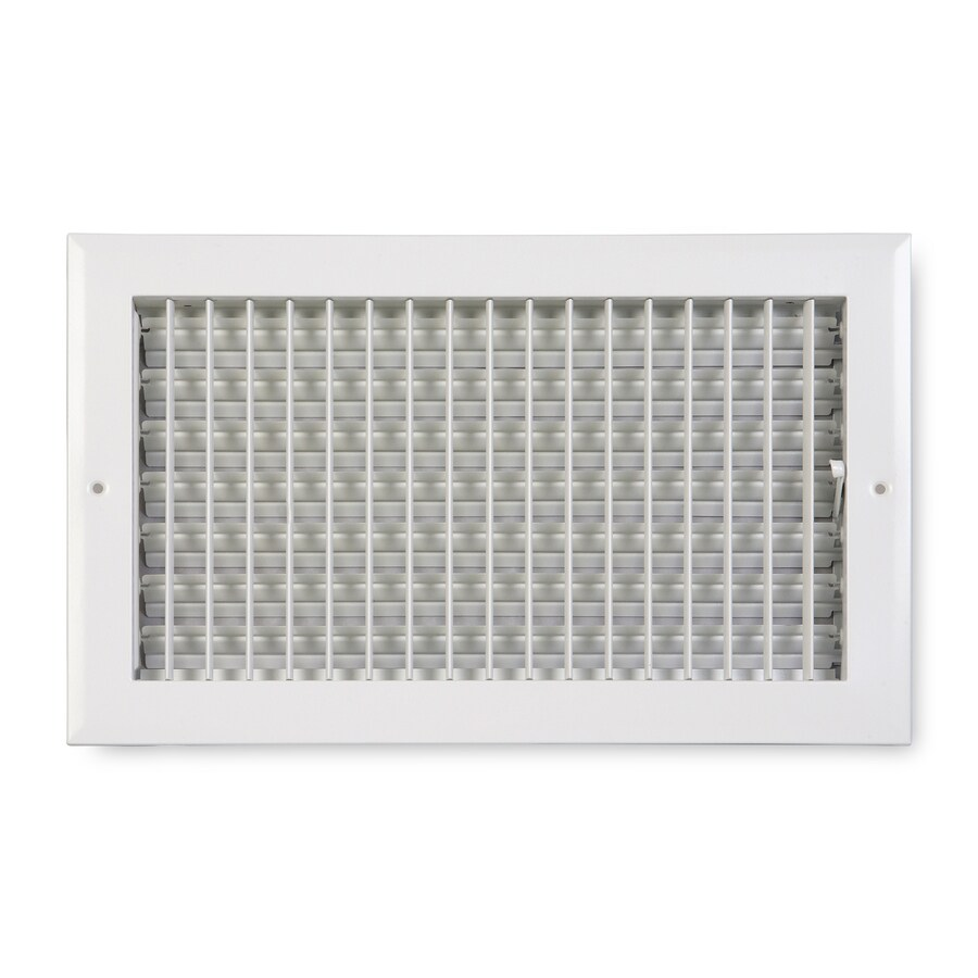 Accord Ventilation 270 Painted Aluminum Sidewall/Ceiling Register (Rough Opening: 10-in x 8-in; Actual: 11.75-in x 9.75-in)