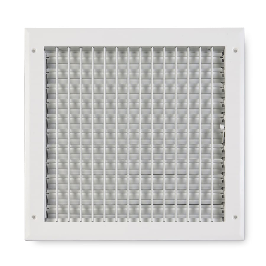 Accord Ventilation 270 Series White Aluminum Sidewall/Ceiling Register (Rough Opening: 12-in x 12-in; Actual: 13.75-in x 13.75-in)