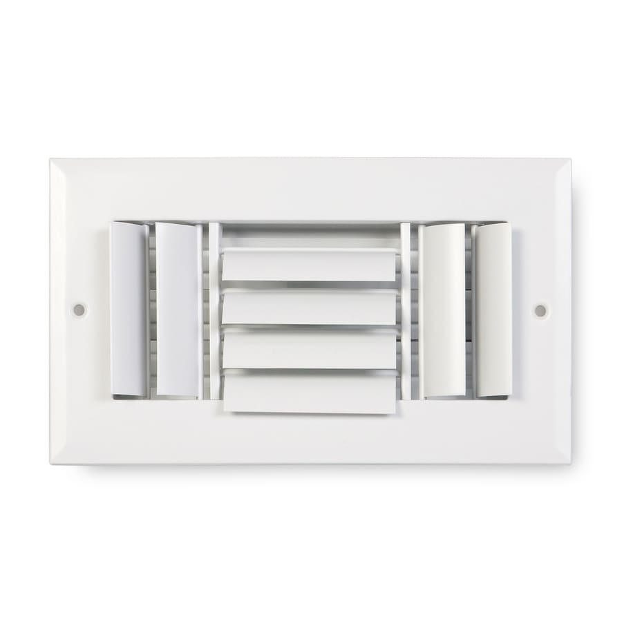 Accord Ventilation 283 Series Painted Aluminum Sidewall/Ceiling Register (Rough Opening: 4-in x 8-in; Actual: 9.75-in x 5.75-in)