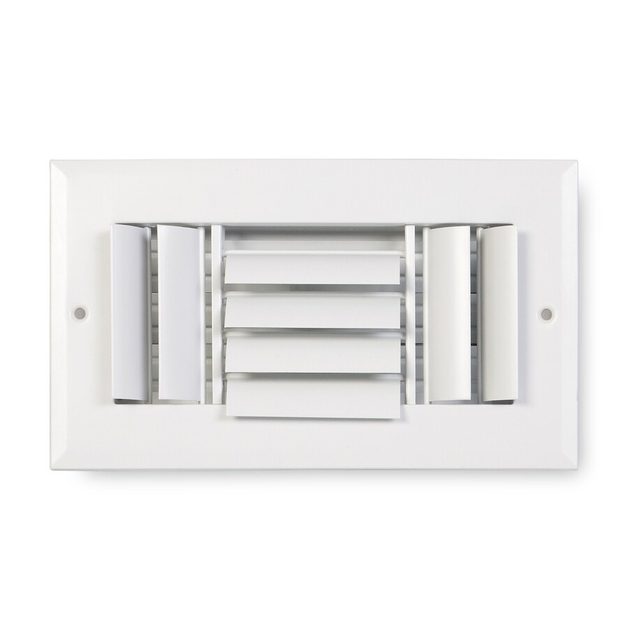 Accord Ventilation 283 Series Painted Aluminum Sidewall/Ceiling Register (Rough Opening: 6.0-in x 10.0-in; Actual: 7.75-in x 11.75-in)