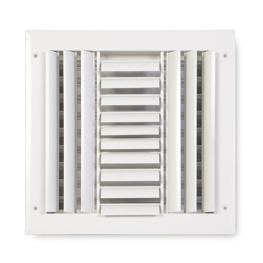 Accord Ventilation 283 Series Painted Aluminum Sidewall/Ceiling Register (Rough Opening: 10-in x 10-in; Actual: 11.75-in x 11.75-in)