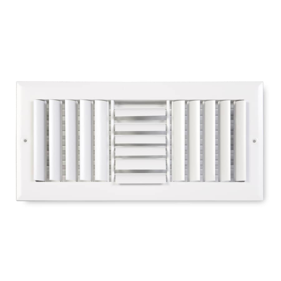 Accord Ventilation 283 Series Painted Aluminum Sidewall/Ceiling Register (Rough Opening: 6-in x 12-in; Actual: 7.75-in x 13.75-in)