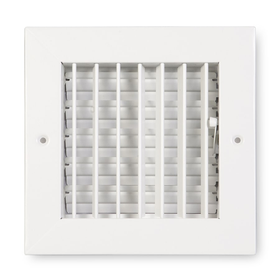 Accord Ventilation 411 Series Painted Steel Sidewall/Ceiling Register (Rough Opening: 8-in x 8-in; Actual: 9.84-in x 9.88-in)