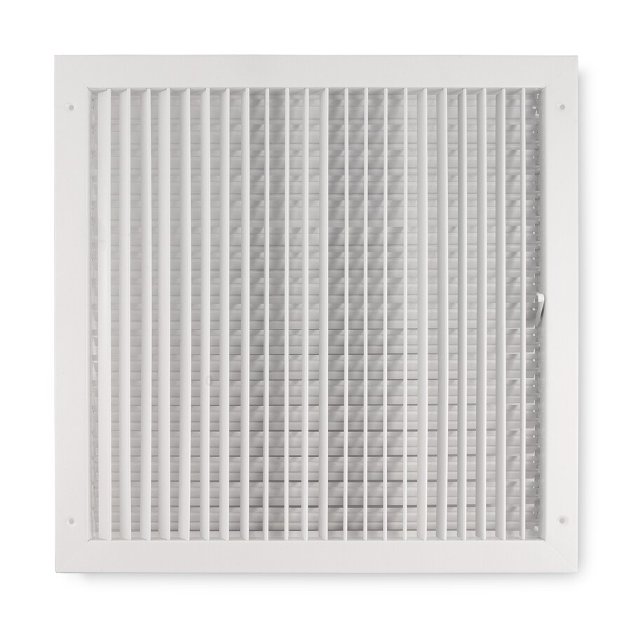 Accord Ventilation 411 Series Painted Steel Sidewall/Ceiling Register (Rough Opening: 16-in x 16-in; Actual: 17.88-in x 17.88-in)