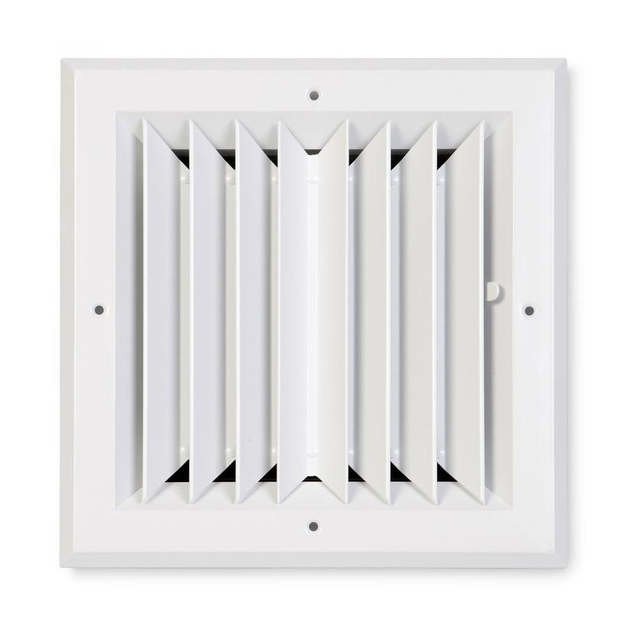 Accord Ventilation 482 Series White Aluminum Ceiling Diffuser (Rough Opening: 8-in x 8-in; Actual: 11-in x 11-in)