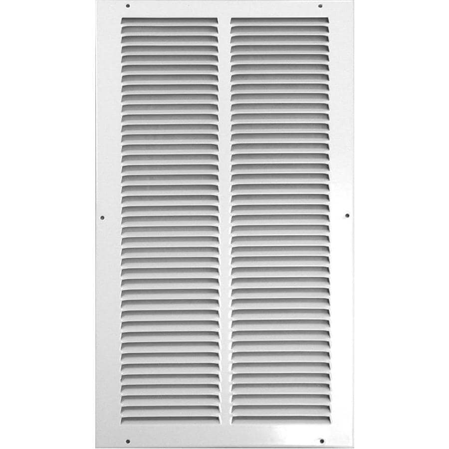 Accord Ventilation 515 Series White Steel Louvered Sidewall/Ceiling Grilles (Rough Opening: 8.0-in x 14.0-in; Actual: 9.75-in x 15.75-in)