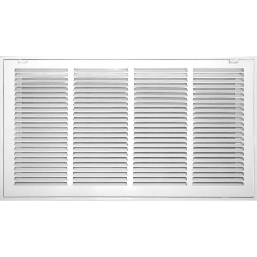 Accord Ventilation 520 Series White Steel Louvered Sidewall/Ceiling Grilles (Rough Opening: 30.0-in x 16.0-in; Actual: 32.57-in x 18.57-in)