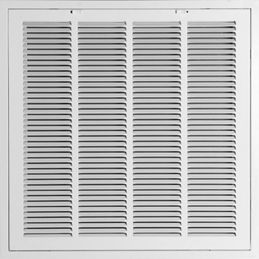 Accord Ventilation 922R6 White Steel Lanced Sidewall/Ceiling Grilles (Rough Opening: 24-in x 24-in; Actual: 24-in x 24-in)