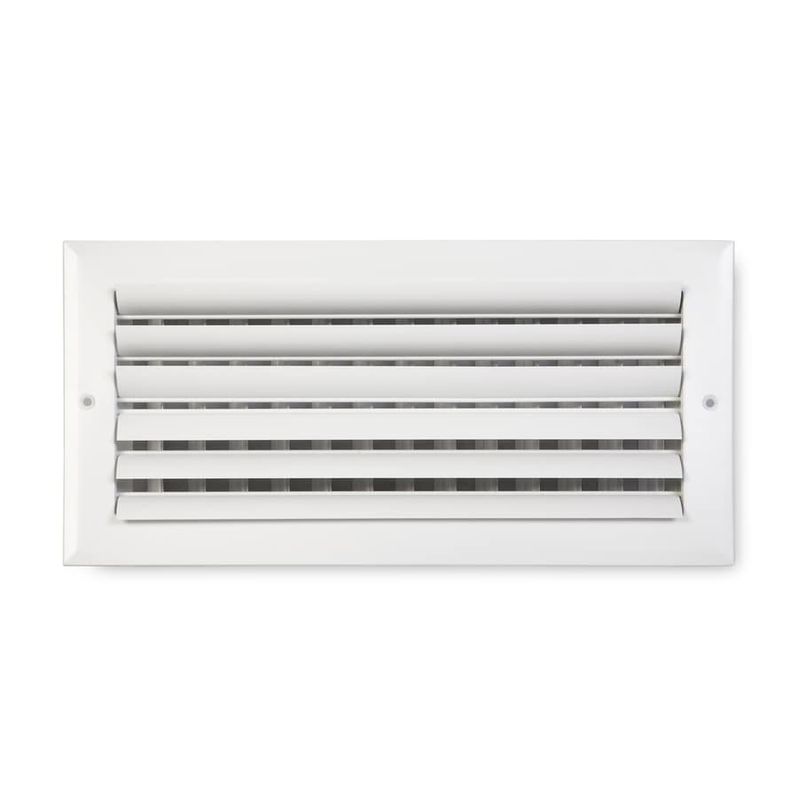 Accord Ventilation 282 Painted Aluminum Sidewall/Ceiling Register (Rough Opening: 14-in x 6-in; Actual: 15.75-in x 7.75-in)
