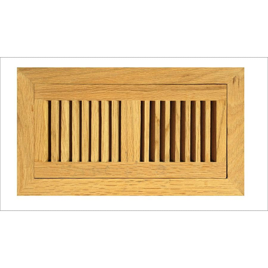 shop allen roth flush mount stained wood floor register