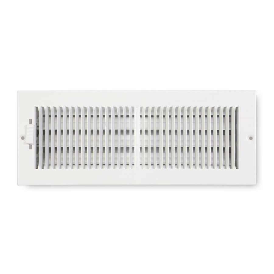 Accord Ventilation 222 Series Painted Steel Sidewall/Ceiling Register (Rough Opening: 5-in x 12-in; Actual: 6.25-in x 13.25-in)