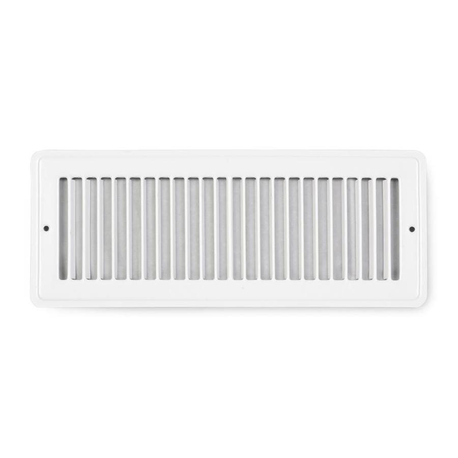 Accord Ventilation 105 White Steel Louvered Toe Space Grilles (Rough Opening: 4-in x 12-in; Actual: 5.5-in x 13.5-in)