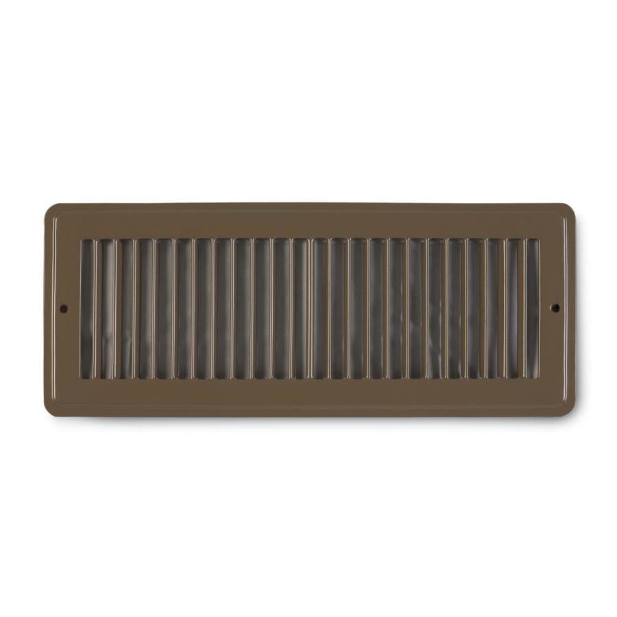 Accord Ventilation 105 Series Brown Steel Louvered Toe Space Grilles (Rough Opening: 4.0-in x 14.0-in; Actual: 5.5-in x 15.5-in)