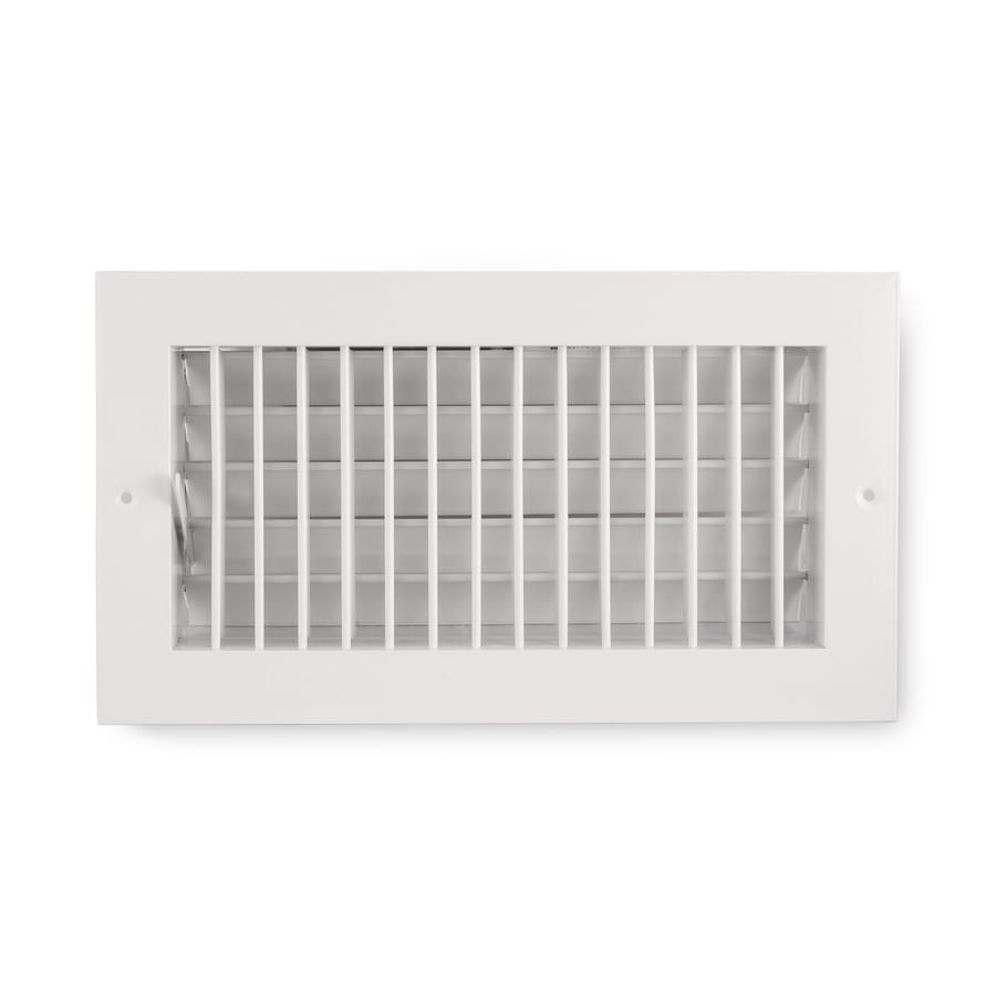 Accord Ventilation 455 Series Painted Aluminum Sidewall/Ceiling Register (Rough Opening: 6-in x 12-in; Actual: 7.74-in x 13.73-in)