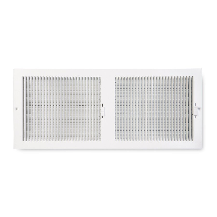 Accord Ventilation 222 Series Painted Steel Sidewall/Ceiling Register (Rough Opening: 6-in x 20-in; Actual: 7.25-in x 21.25-in)