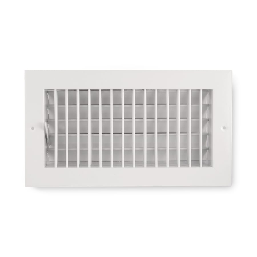 Accord Ventilation 455 Series Painted Aluminum Sidewall/Ceiling Register (Rough Opening: 4-in x 8-in; Actual: 5.73-in x 9.73-in)
