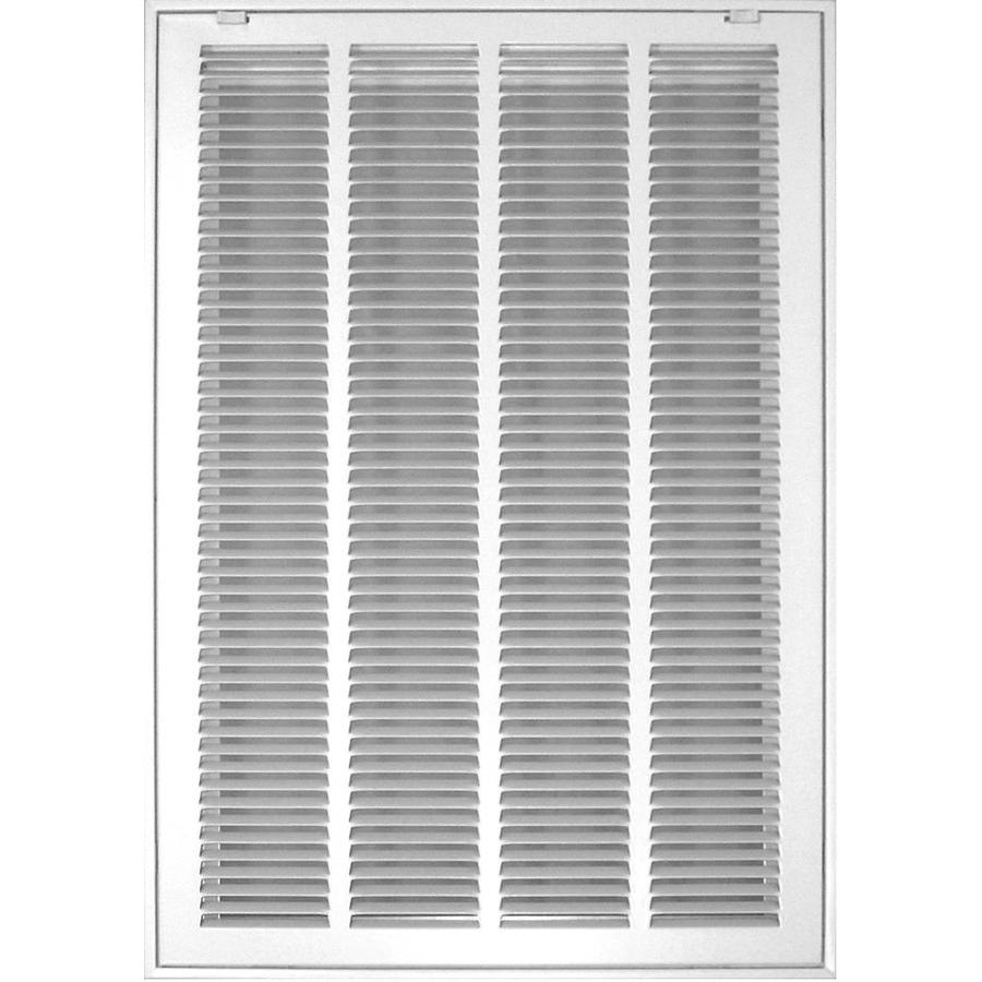 Accord Ventilation 520 Series White Steel Louvered Sidewall/Ceiling Grilles (Rough Opening: 12-in x 30-in; Actual: 14.57-in x 32.57-in)