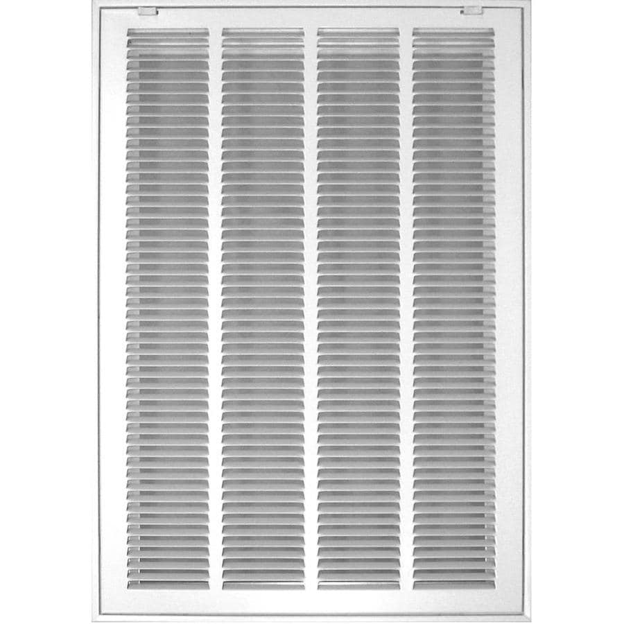 Accord Ventilation 520 Series White Steel Louvered Sidewall/Ceiling Grilles (Rough Opening: 12.0-in x 30.0-in; Actual: 14.57-in x 32.57-in)