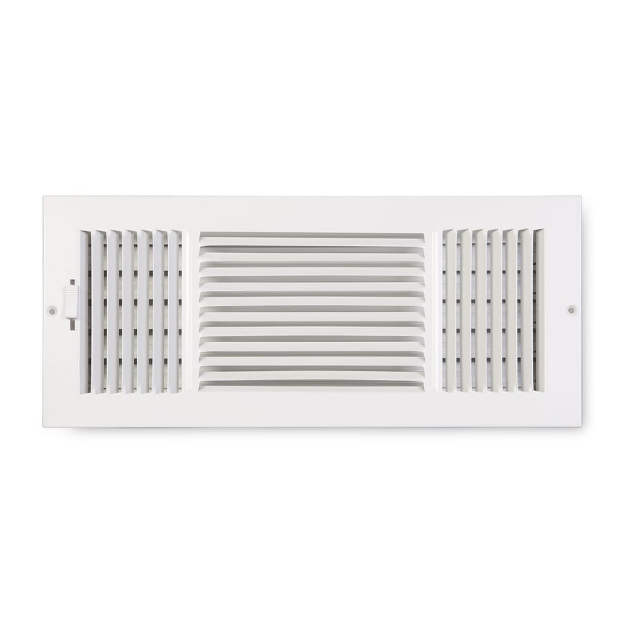 Accord Ventilation 203 Painted Steel Sidewall/Ceiling Register (Rough Opening: 16-in x 8-in; Actual: 17.75-in x 9.75-in)