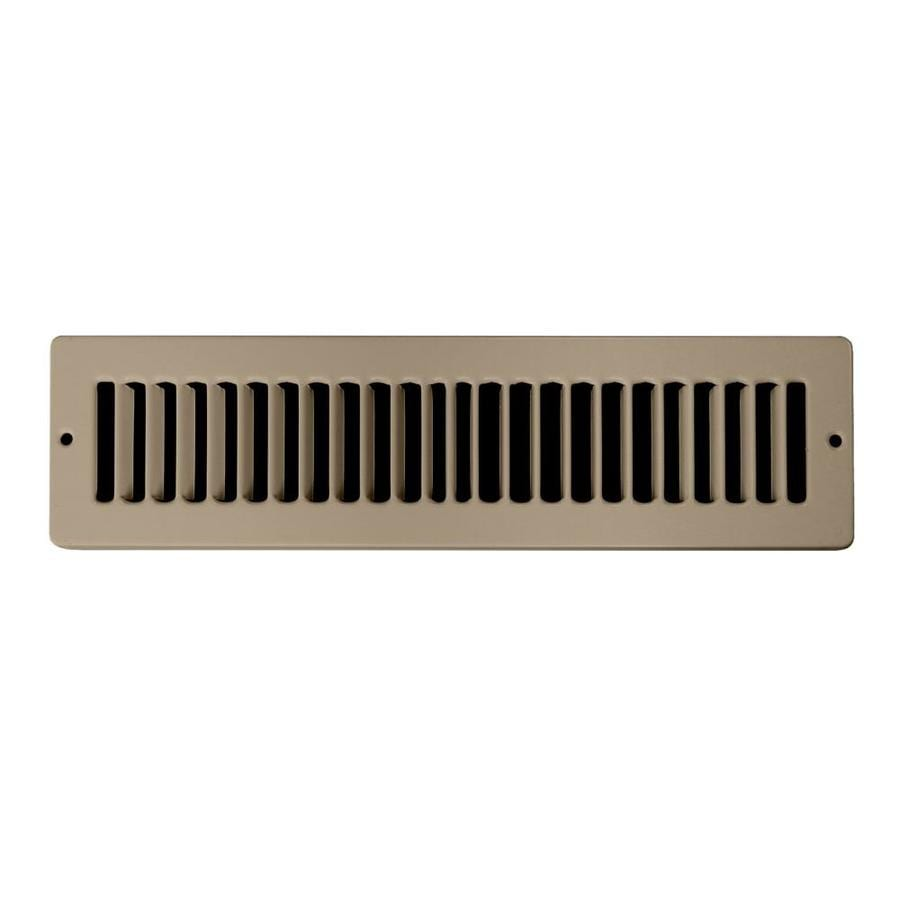 Accord Ventilation 105 Series Brown Steel Louvered Toe Space Grilles (Rough Opening: 4.0-in x 10.0-in; Actual: 5.5-in x 11.5-in)