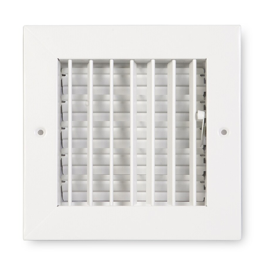 Accord Ventilation 411 Series Painted Steel Sidewall/Ceiling Register (Rough Opening: 6-in x 6-in; Actual: 7.88-in x 7.88-in)