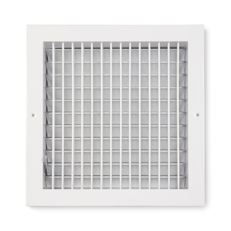 Accord Ventilation 455 Series White Aluminum Sidewall/Ceiling Register (Rough Opening: 10-in x 10-in; Actual: 11.73-in x 11.73-in)