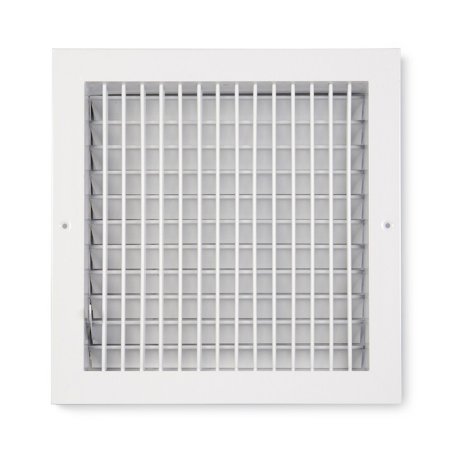 Accord Ventilation 455 Series Painted Aluminum Sidewall/Ceiling Register (Rough Opening: 10-in x 10-in; Actual: 11.73-in x 11.73-in)