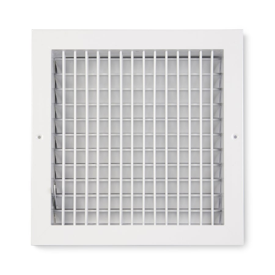 Accord Ventilation 455 Painted Aluminum Sidewall/Ceiling Register (Rough Opening: 12-in x 12-in; Actual: 13.73-in x 13.73-in)