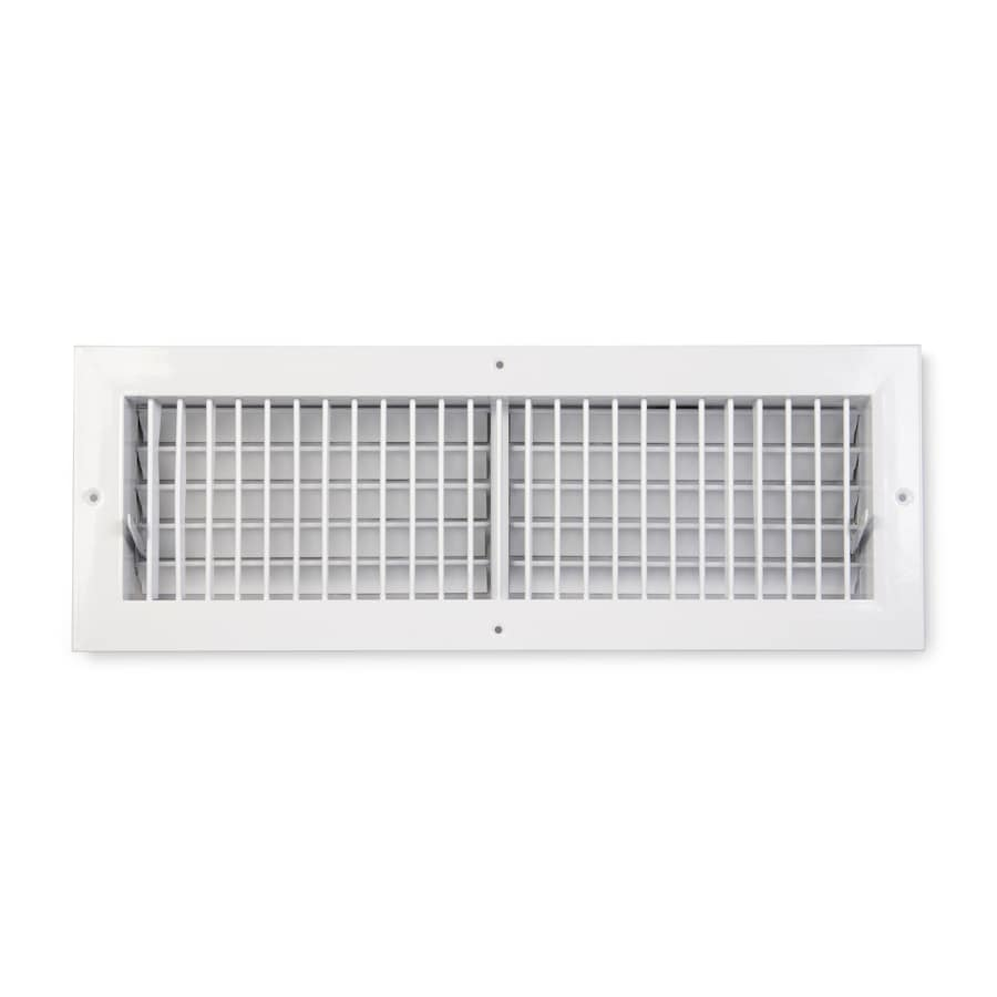 Accord Ventilation 455 Painted Aluminum Sidewall/Ceiling Register (Rough Opening: 20-in x 6-in; Actual: 21.73-in x 7.74-in)