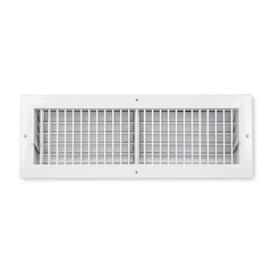 Accord Ventilation 455 Painted Aluminum Sidewall/Ceiling Register (Rough Opening: 20-in x 8-in; Actual: 21.73-in x 9.74-in)