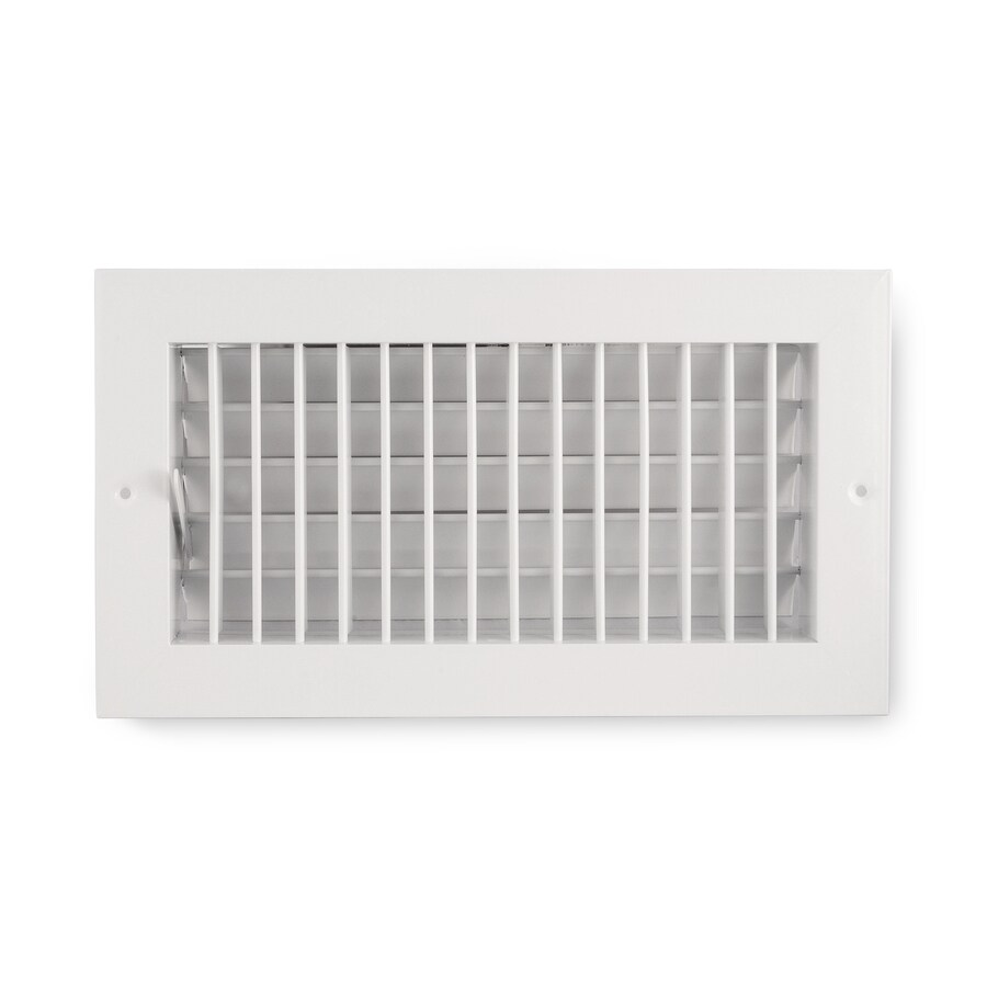 Accord Ventilation 455 Series Painted Aluminum Sidewall/Ceiling Register (Rough Opening: 10.0-in x 20.0-in; Actual: 11.74-in x 21.73-in)