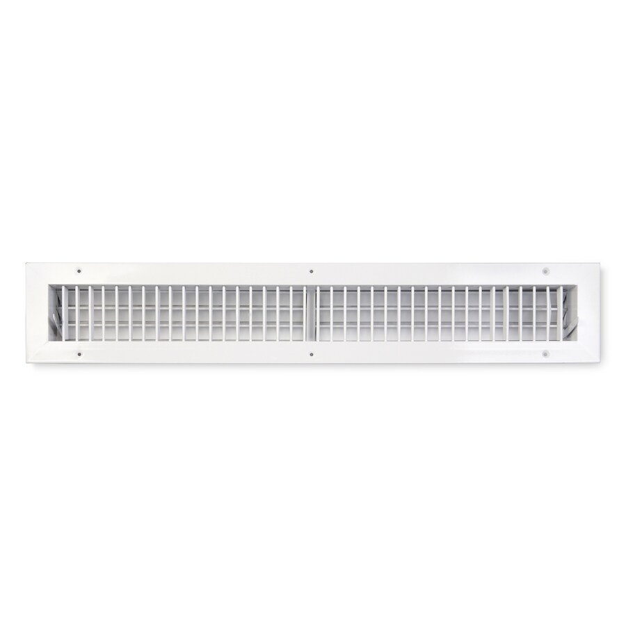 Accord Ventilation 455 Series Painted Aluminum Sidewall/Ceiling Register (Rough Opening: 4-in x 30-in; Actual: 5.74-in x 31.73-in)