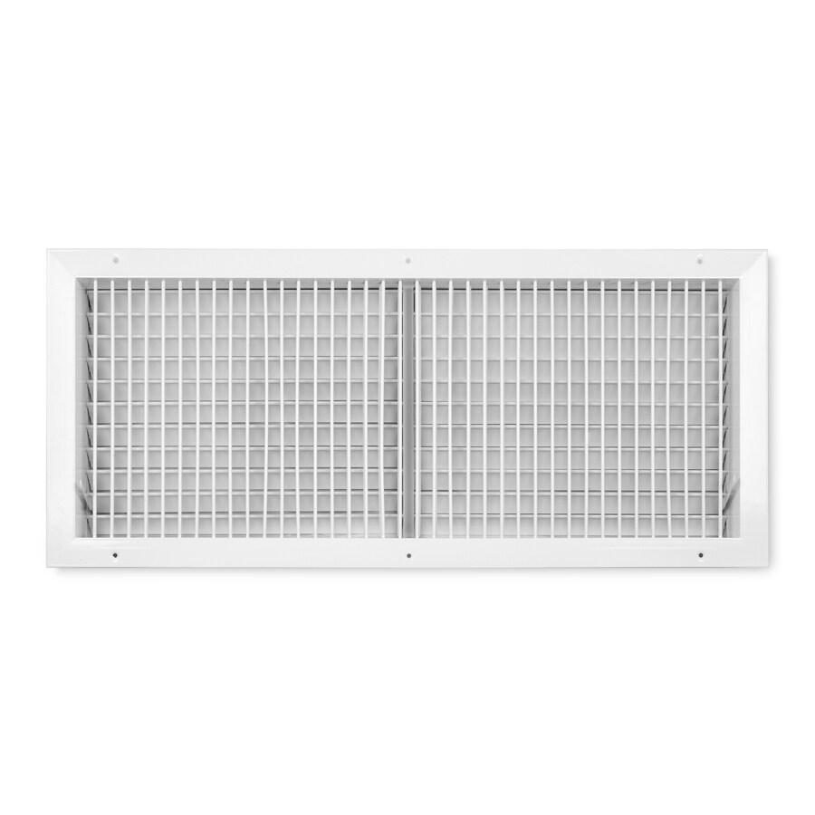 Accord Ventilation 455 Series Painted Aluminum Sidewall/Ceiling Register (Rough Opening: 12-in x 30-in; Actual: 13.74-in x 31.73-in)