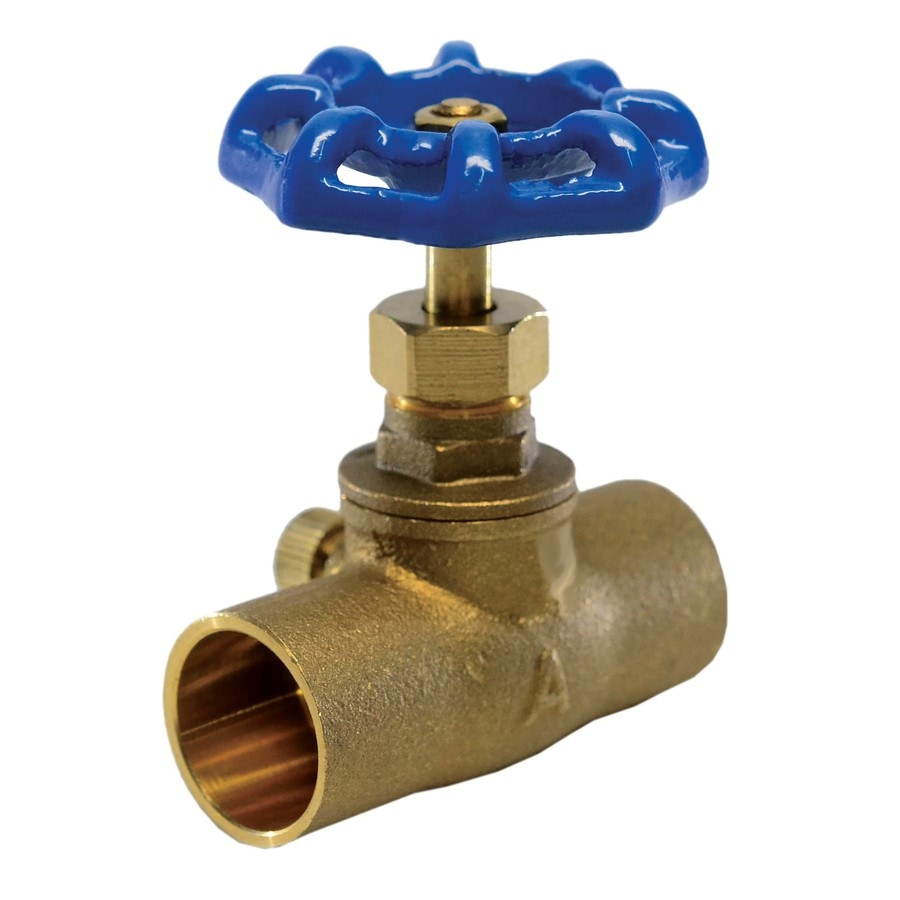 AMERICAN VALVE 1/2-in Brass Sweat In-Line Stop Valve with Waste