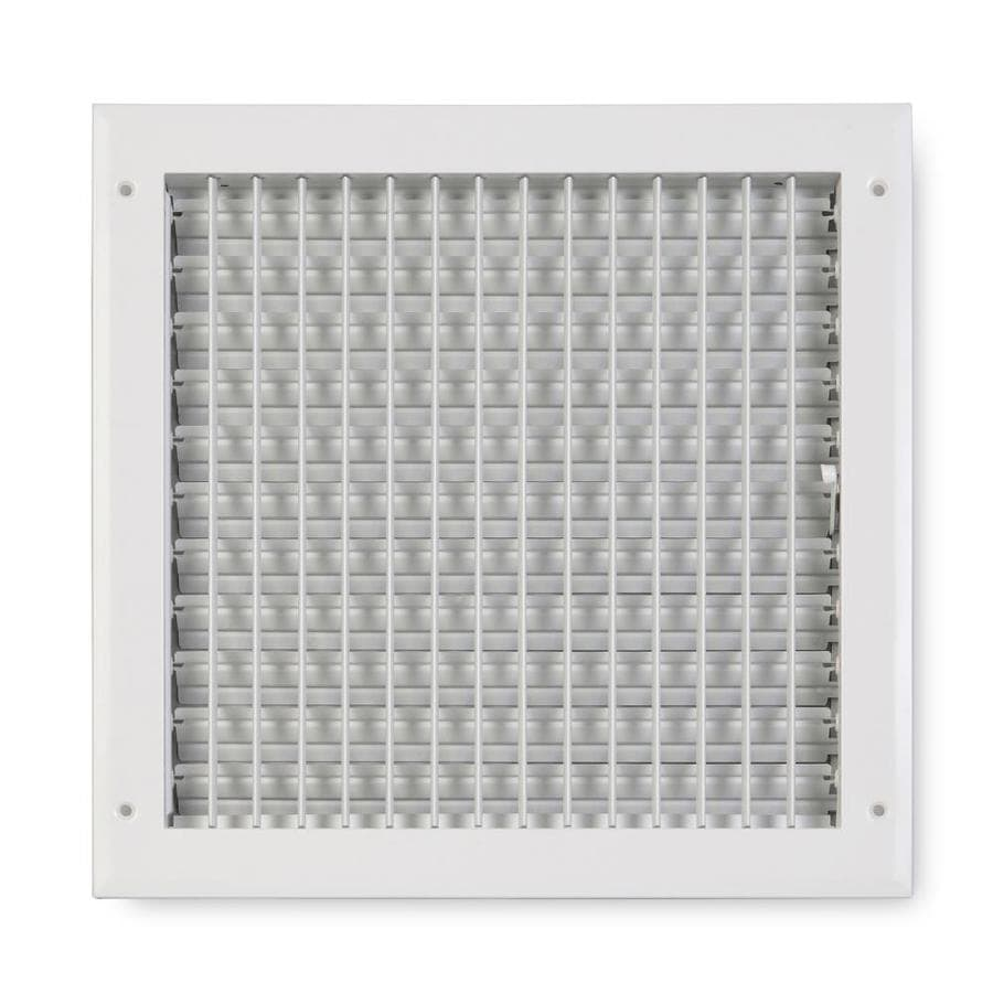 Accord Ventilation 270 Series Painted Aluminum Sidewall/Ceiling Register (Rough Opening: 14.0-in x 14.0-in; Actual: 15.75-in x 15.75-in)