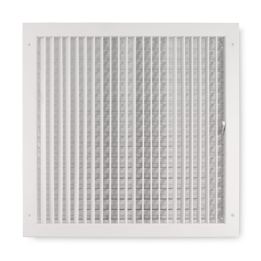 Accord Ventilation 411 Series Painted Steel Sidewall/Ceiling Register (Rough Opening: 18-in x 18-in; Actual: 19.88-in x 19.88-in)