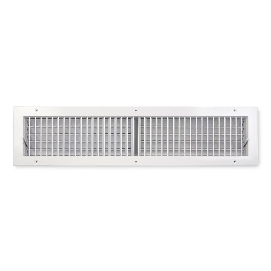 Accord Ventilation 411 Series Painted Steel Sidewall/Ceiling Register (Rough Opening: 6-in x 30-in; Actual: 31.84-in x 7.88-in)