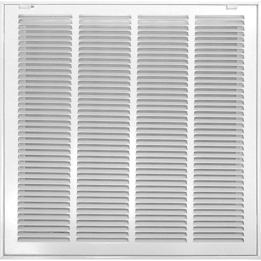 Accord Ventilation 520 Series White Steel Louvered Sidewall/Ceiling Grilles (Rough Opening: 25.0-in x 30.0-in; Actual: 27.57-in x 32.57-in)